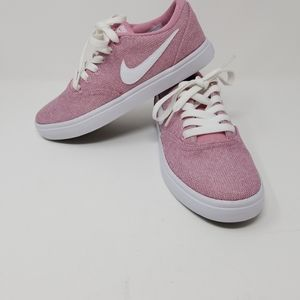 Nike Womens SB Solarsoft Element Pink/Wht Sz 6.5